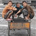 Chinese children, Gansu Province, China.