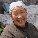 Local woman, Quinghai Province, Tibetan Plateau, China.