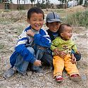 Local children, Dulan, Qinghai Province, Tibetan Plateau, China.