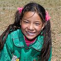 Tibetan child, near Damshung, Tibet.
