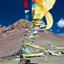 Prayer Flags, near Nam-Tso Lake, Tibet.