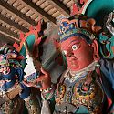 Figures inside the Kumbum Chorten, Gyantse, Tibet.