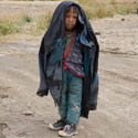 Tibetan boy, On route from Everest to Tingri, Tibet.