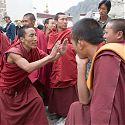 Monks Debating, Drepung Monastery, Lhasa, Tibet.