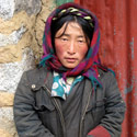 Tibetan girl, Drigung Valley, near Lhasa, Tibet.