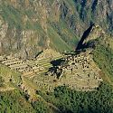 Inca Ruins, Machu Picchu, View from Sun Gate, Peru.