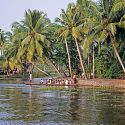 Kerala Backwaters, on route from Quillon to Alleppey, India.