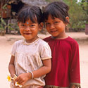Cambodian girls, The Temples of Angkor, Cambodia.