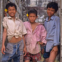 Cambodian boys, The Temples of Angkor, Cambodia.