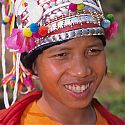 Young woman from the Aka (Eko) Tribe, Nam Mat, Northern Laos.
