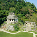 View from the Temple of the Cross, Palenque (AD 600-700), Mexico.